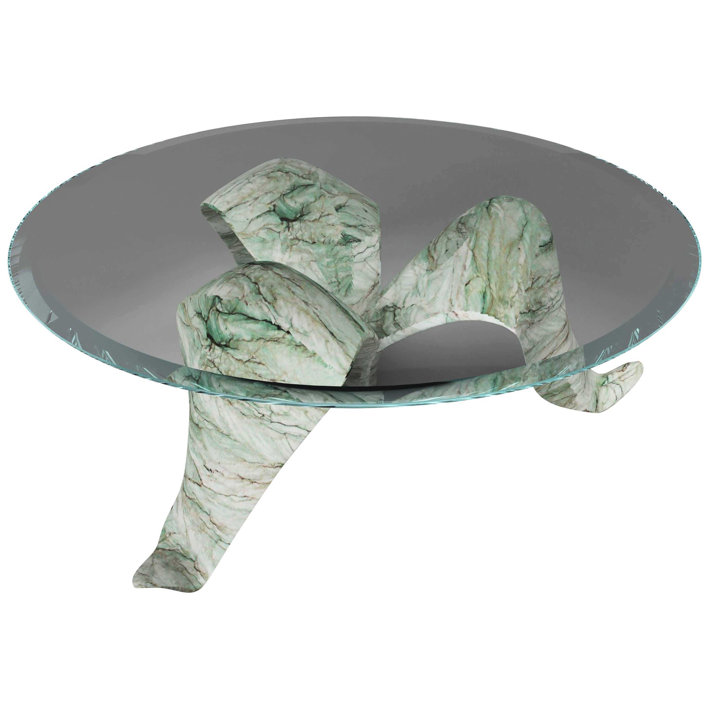 """The Diamond Leaf"" 21st Century Sculptured Marble Coffee Table by Grzegorz Majka"