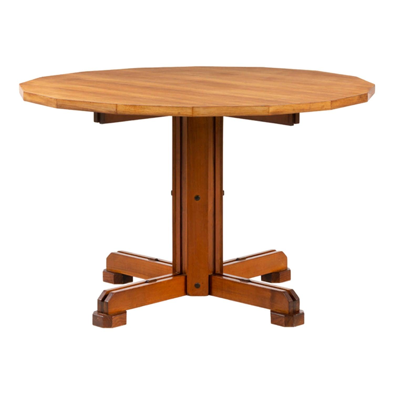Ico Parisi, Unique Piece Walnut Table with 16 Sides