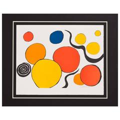 "Alexander Calder ""Boules, Rouge et Jaune"" Balls, Red and Yellow, Lithograph"