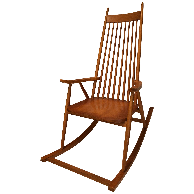 Midcentury Rocking Chair in Beechwood