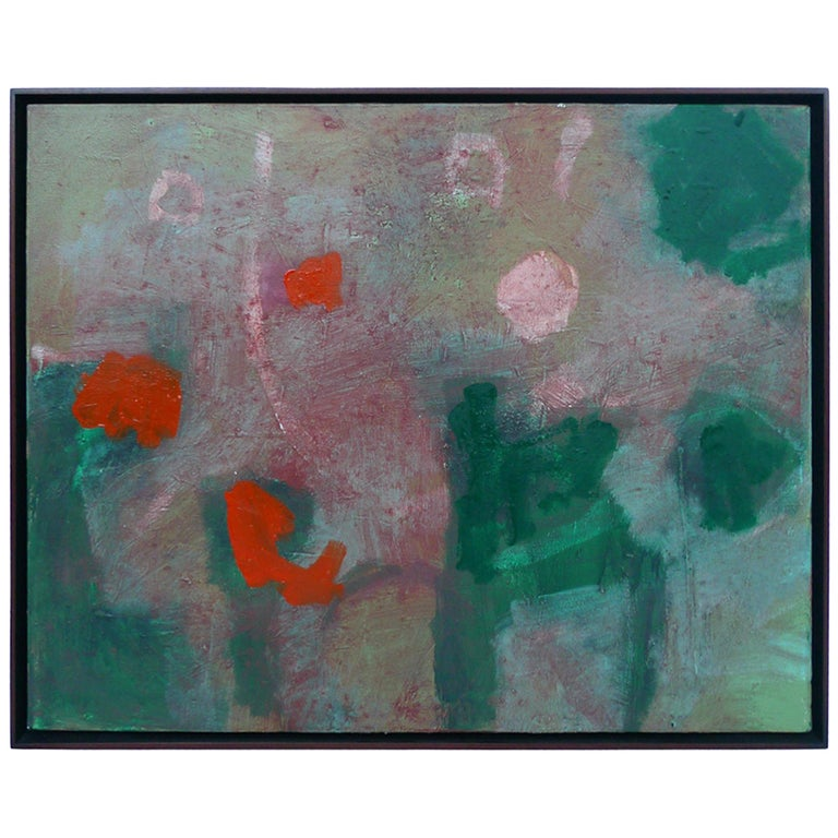 "M P Landis Abstract Painting, ""Monk 6 April in Paris"""