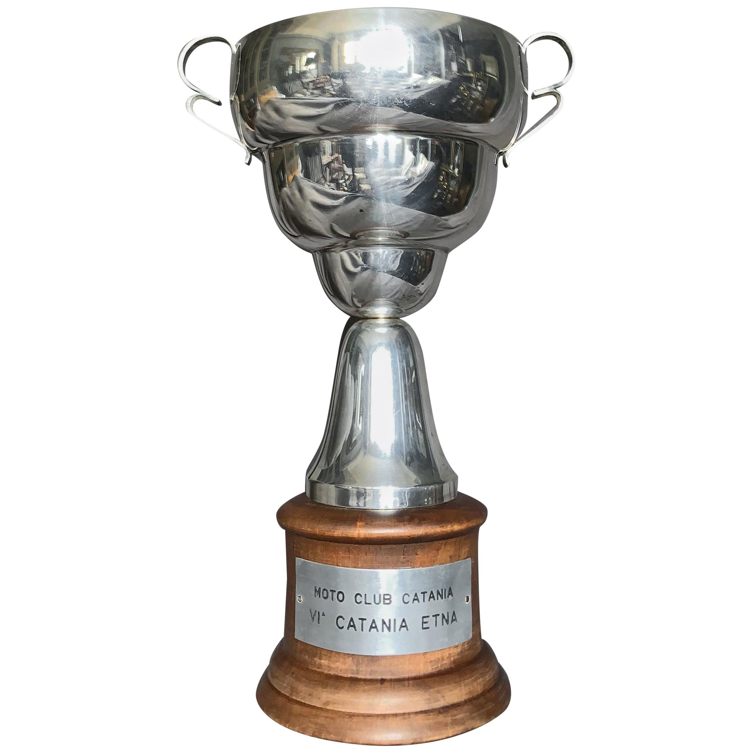 Italian Sterling Silver Racing Trophy
