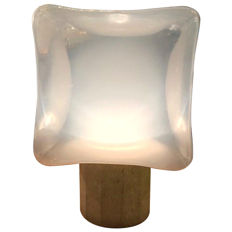 1970s Italian Cube Table Lamp by Leucos