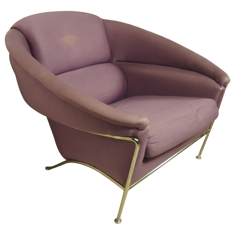 Milo Baughman Round Back Lounge Chair