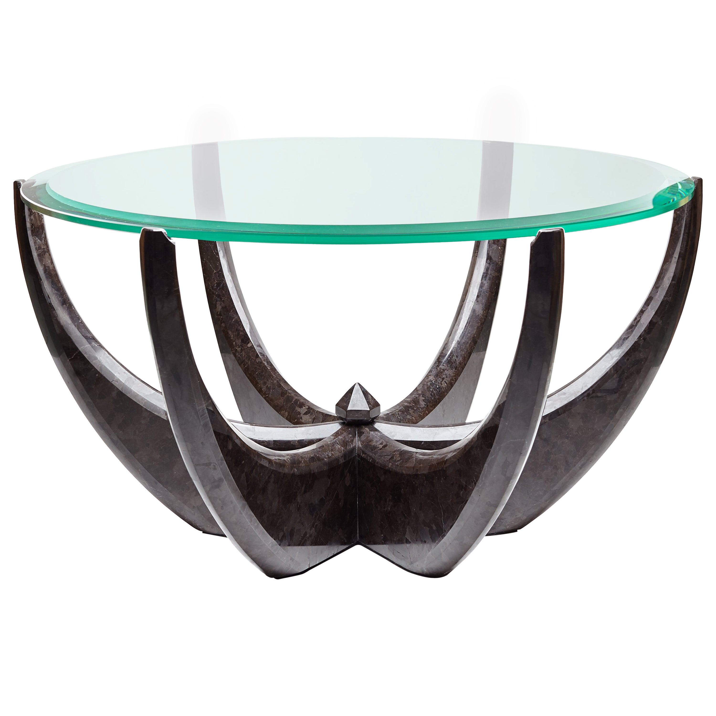 """The Diamond Ring"" Marble Coffee Table by Grzegorz Majka"