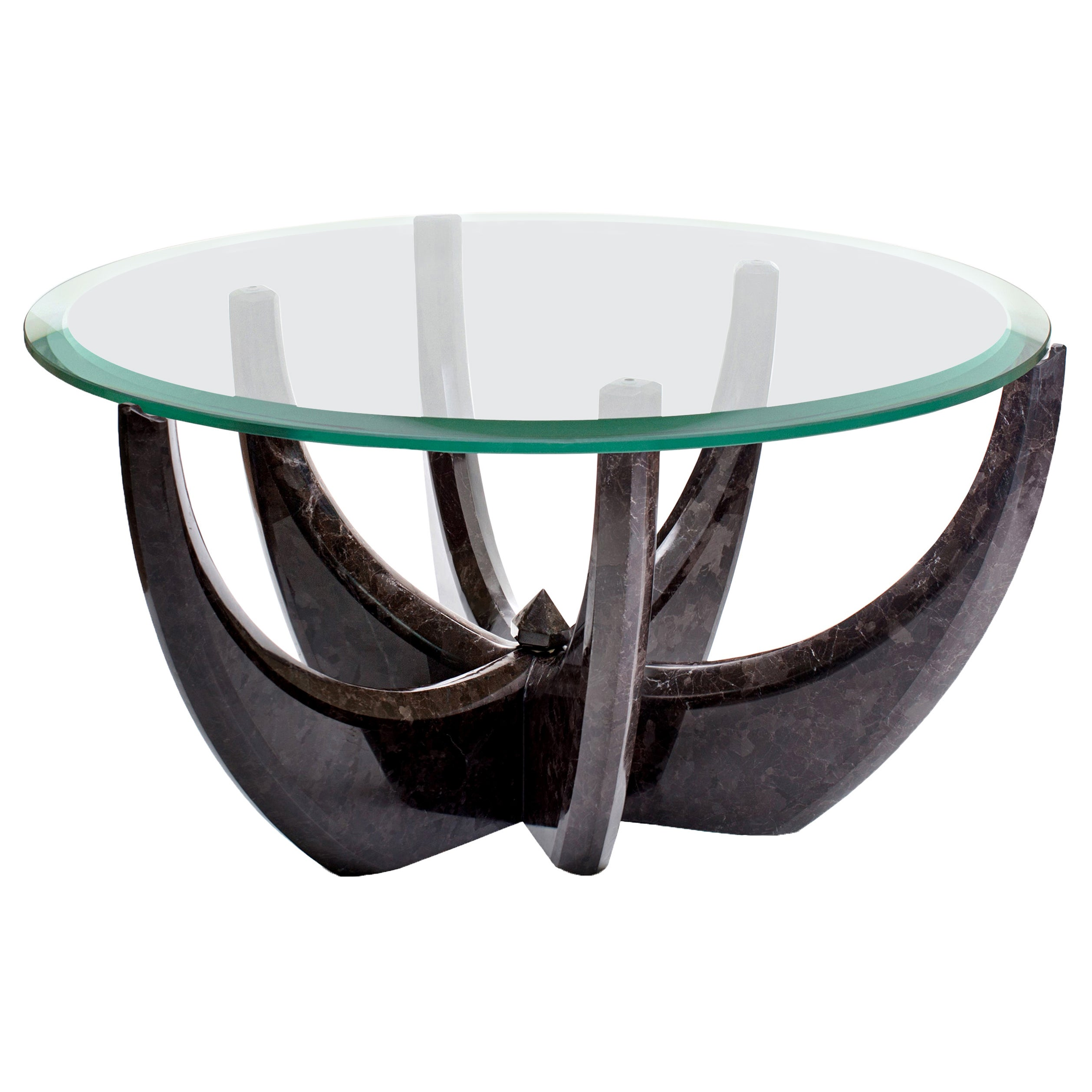 """""""The Diamond Tulip"""" Marble Coffee Table by Grzegorz Majka"""