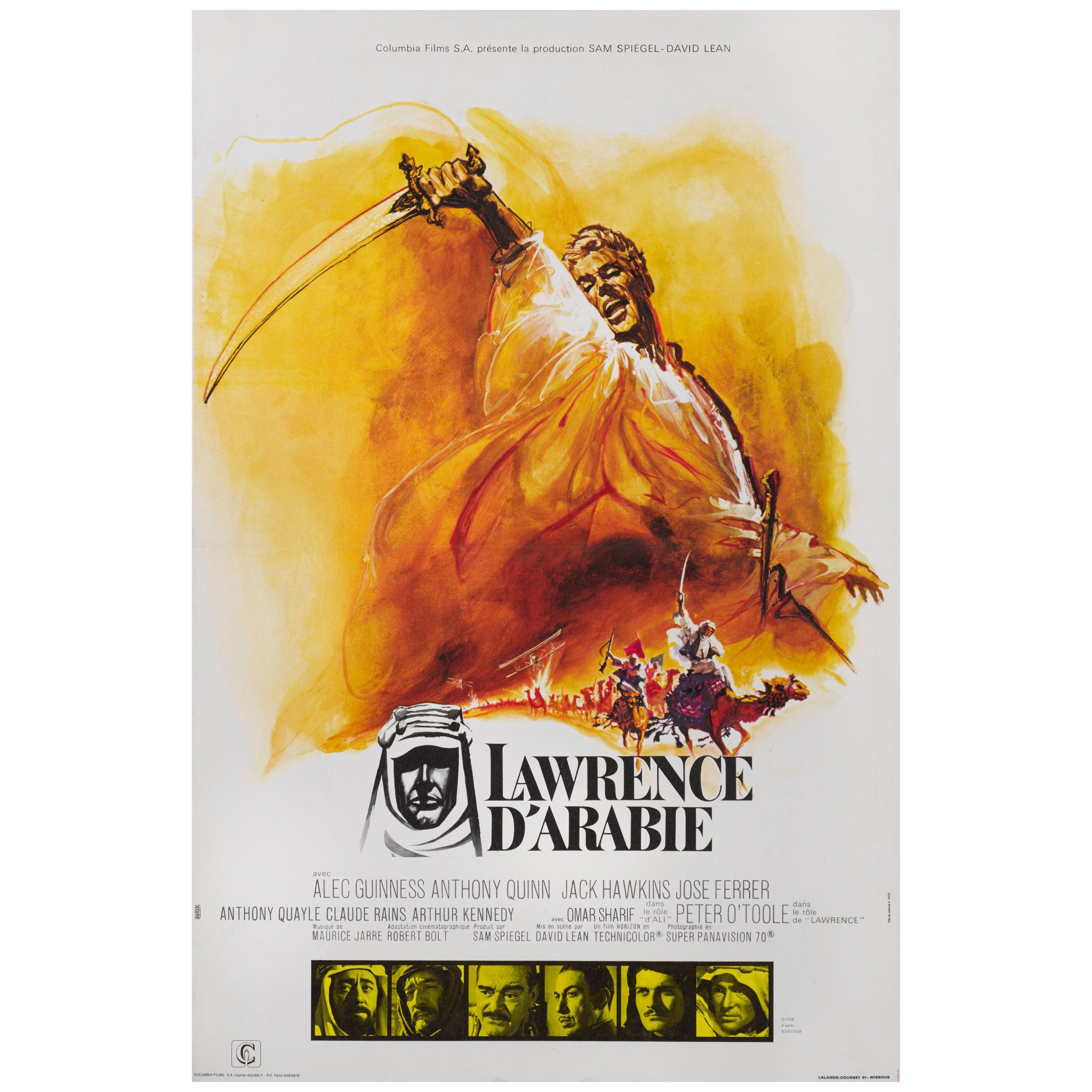 """""""Lawrence of Arabia / Lawrence d' Arabie"""" Original French Film Poster"""