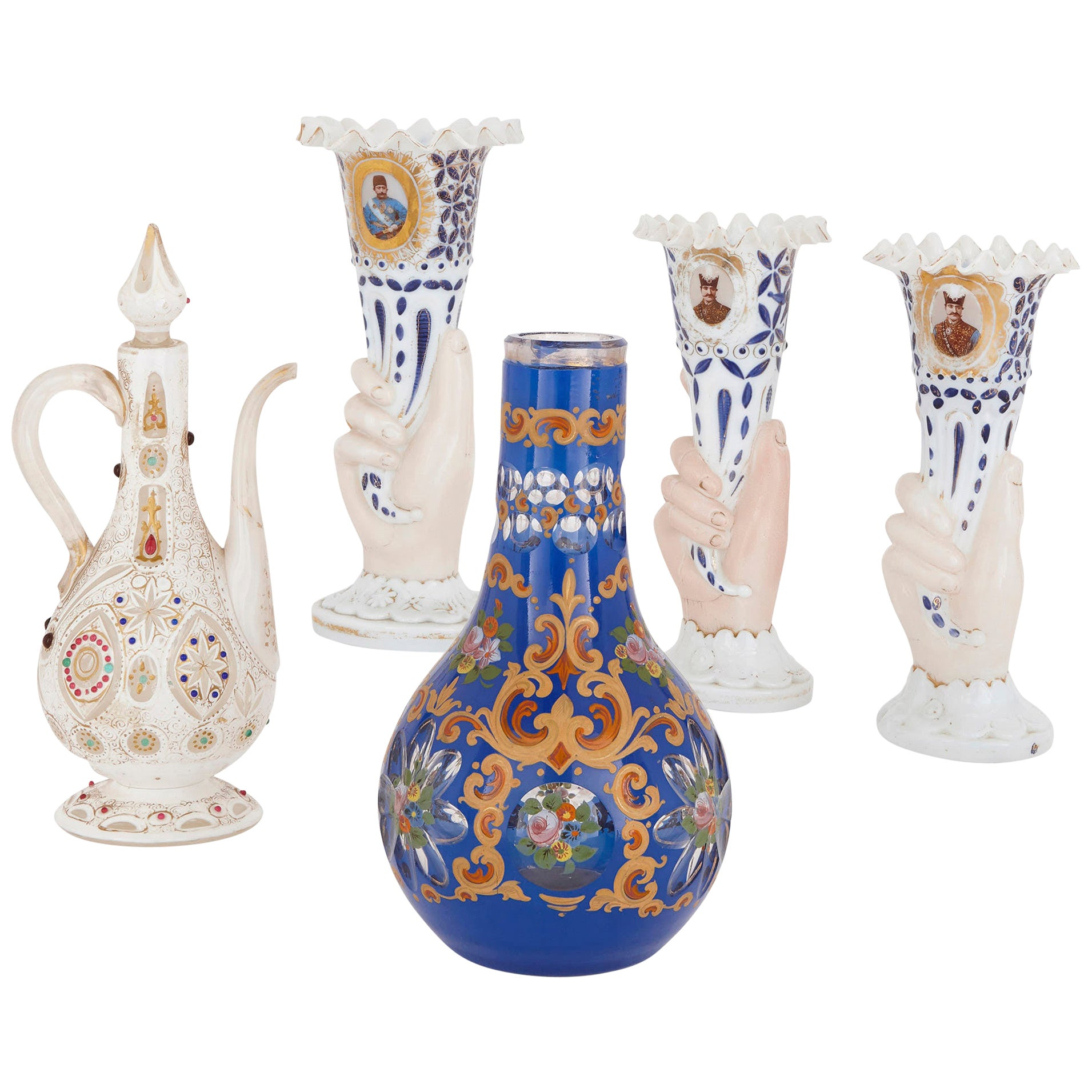 Collection of 19th Century Bohemian Glass for the Persian Market