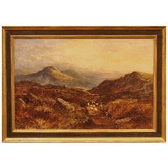 19th Century Scottish Landscape Oil Painting