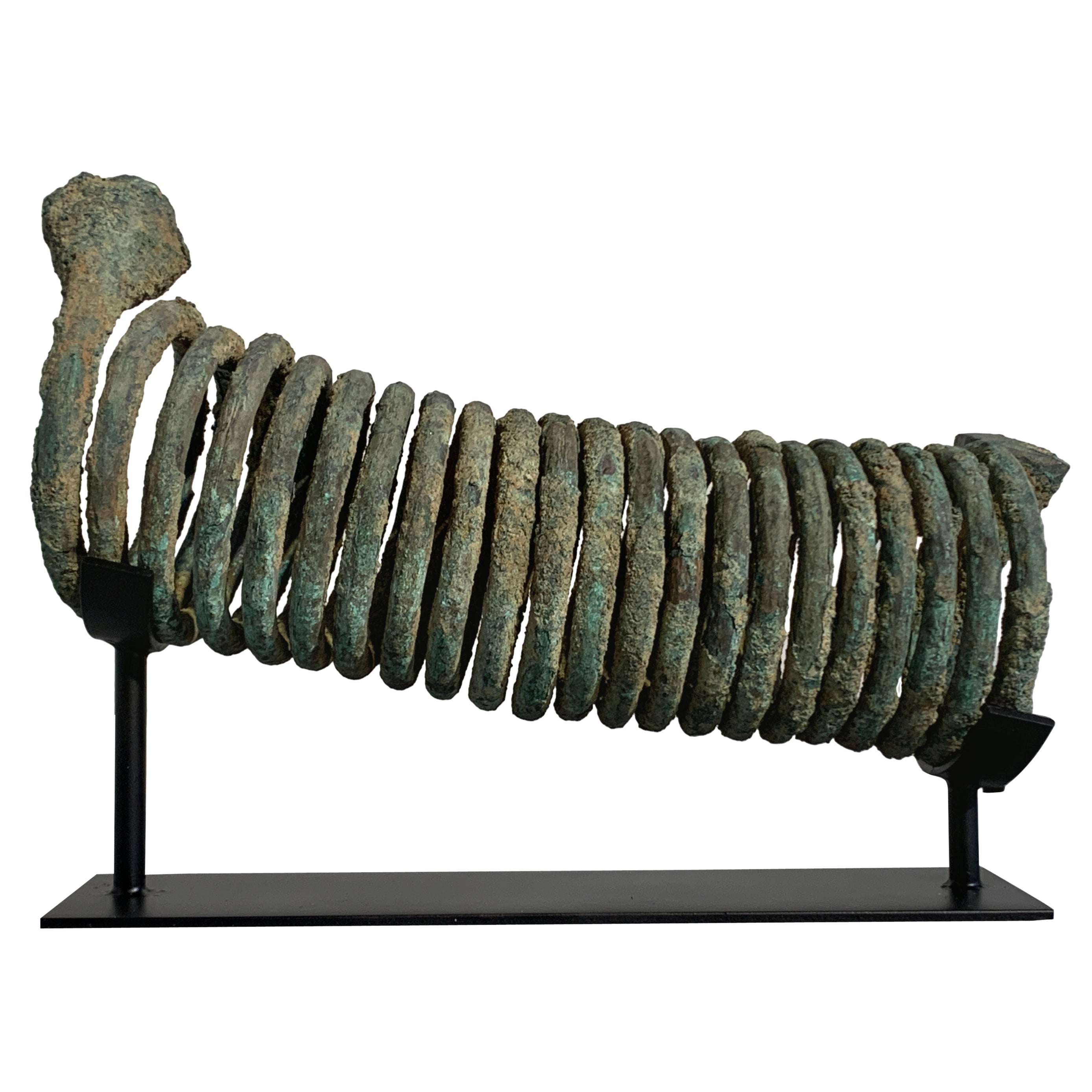 African Igbo Coiled Copper Manilla Currency, 20th Century, Nigeria