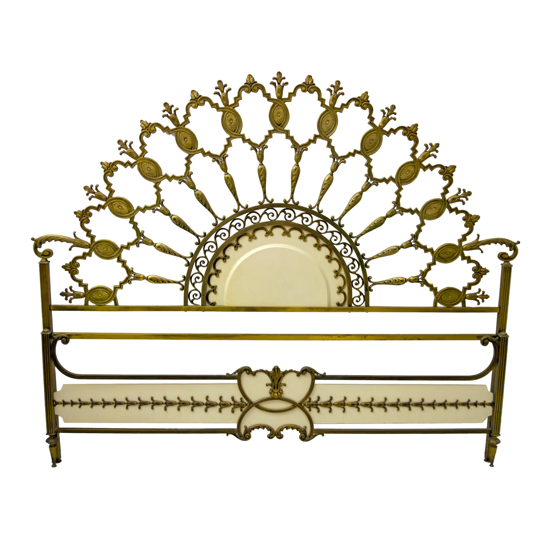 Mid-Century Modern Italian Brass Bed, 1960s