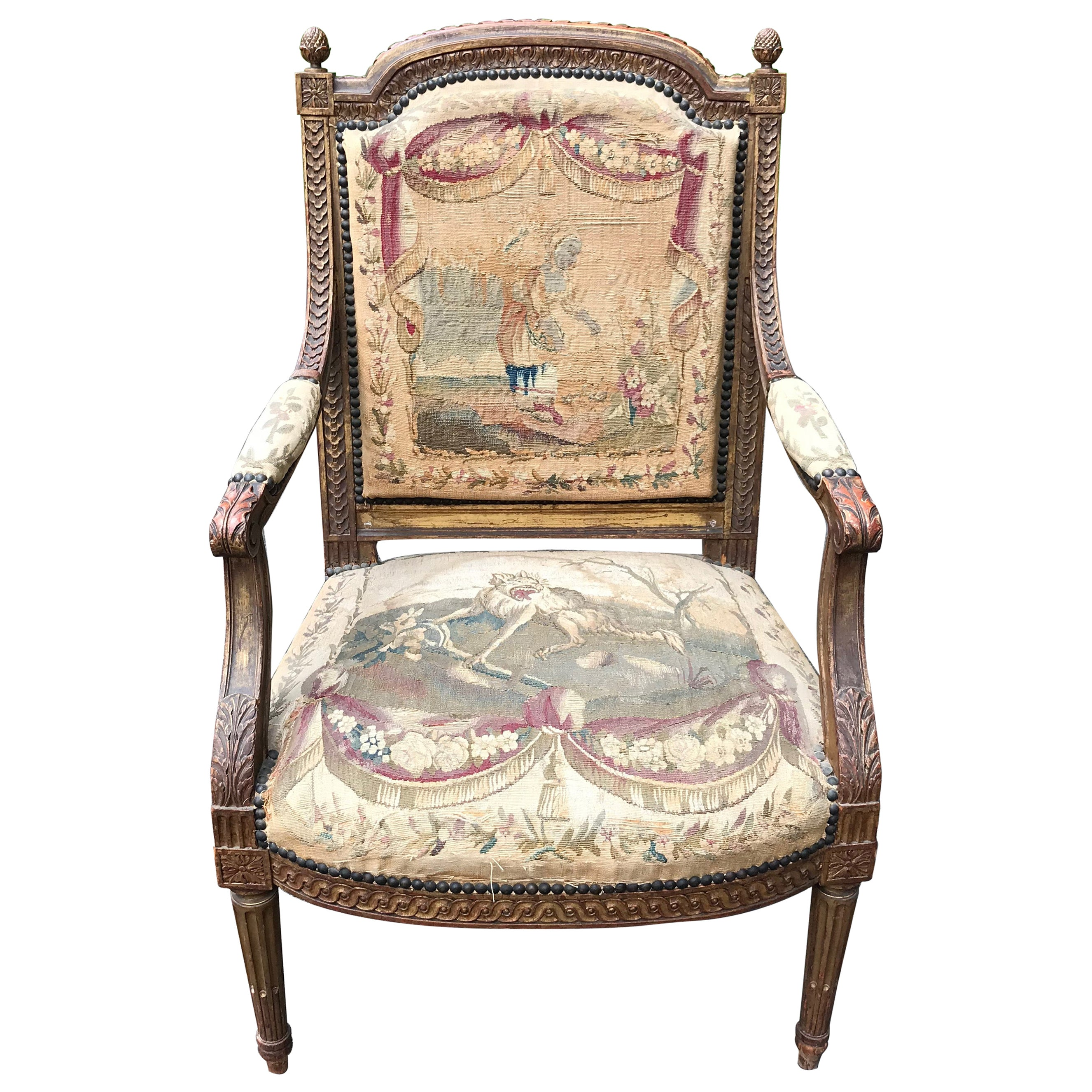Set of 4, 19th Century French Louis XVI Fauteuils