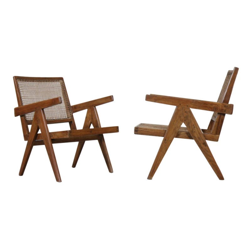 Set of Two 'Easy Armchairs' by Pierre Jeanneret '1896-1967'