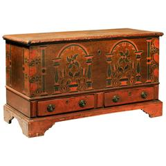 Rare and Vibrant Painted Blanket Chest
