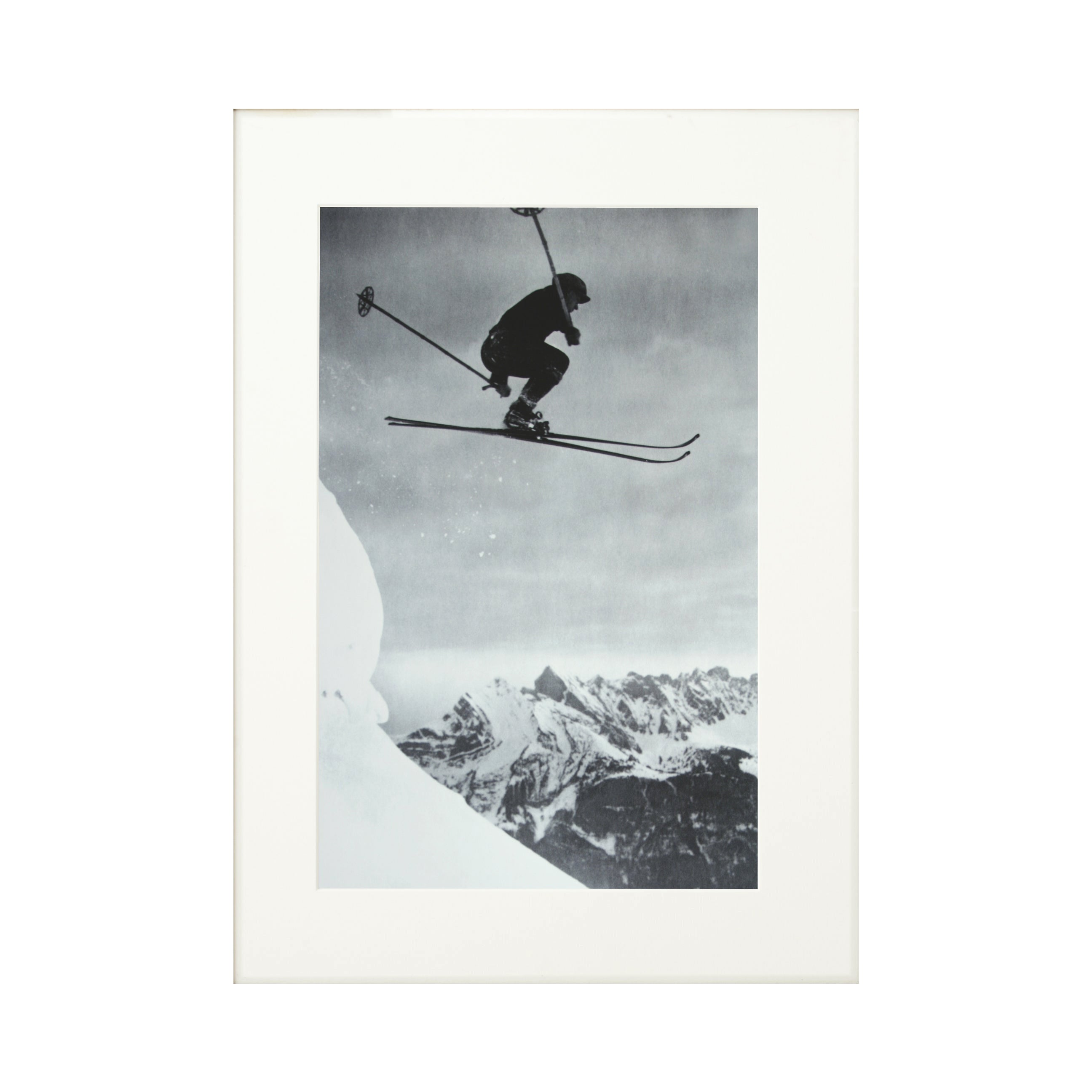 Vintage, Antique Alpine Ski Photograph, Der Sprung