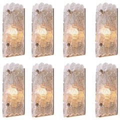 Set of Eight Wall Lamps by Carl Fagerlund for Orrefors and Lyfa