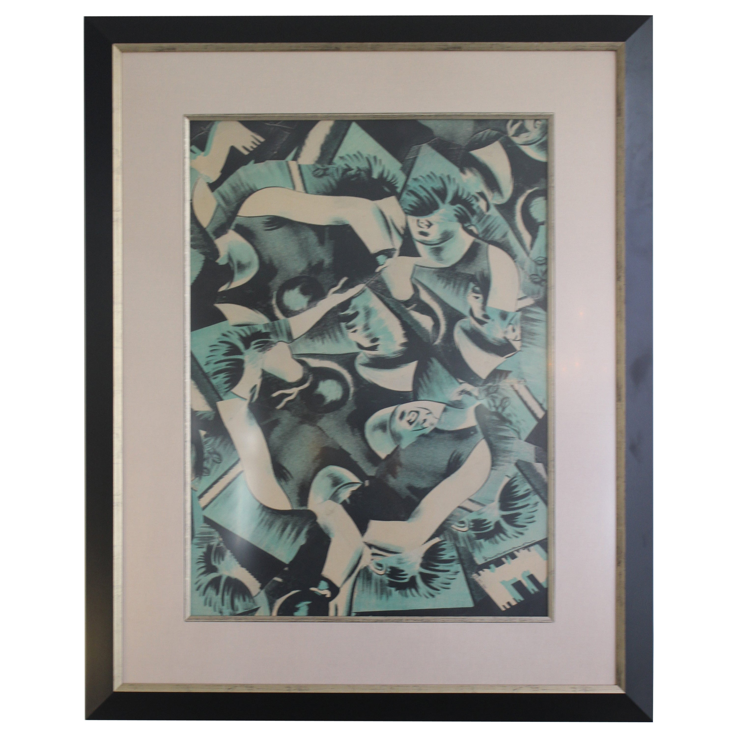Bruce Helander Lithograph of Collage