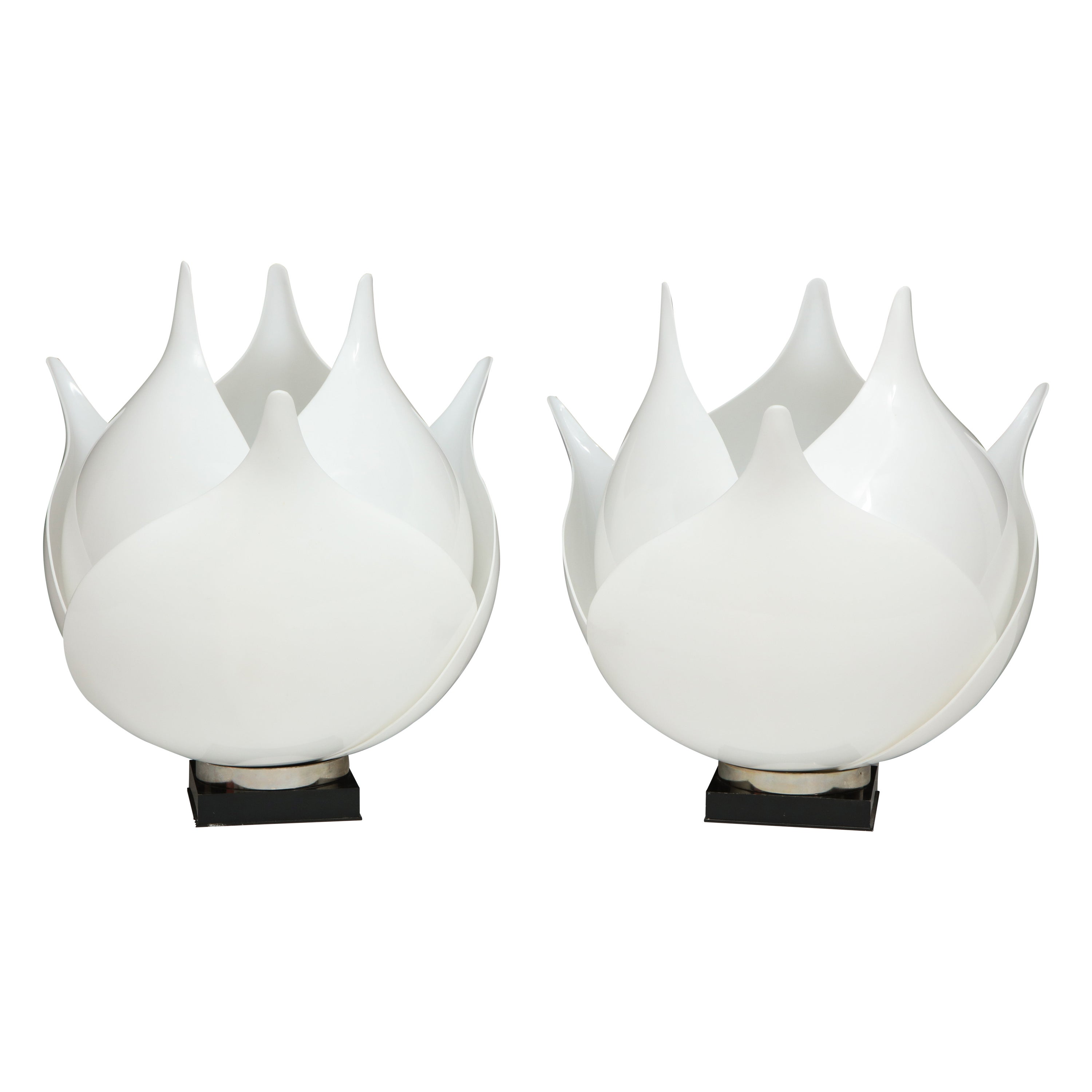Pair of Large 1980s Rougier Lamps