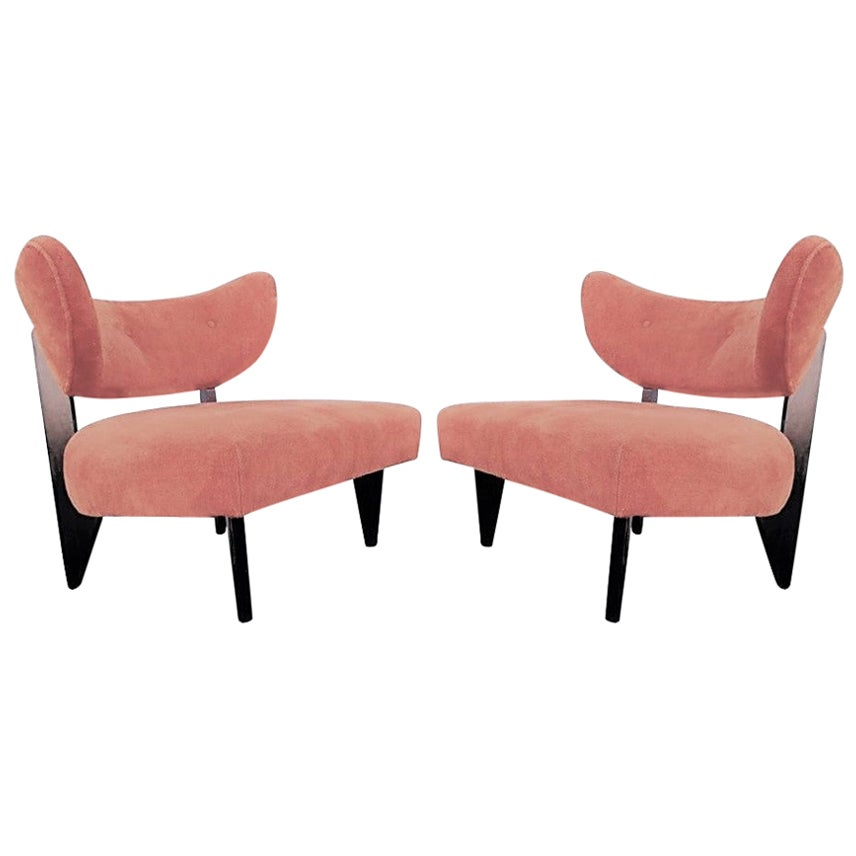 Pair of Sculptural Art Deco Lounge Chairs