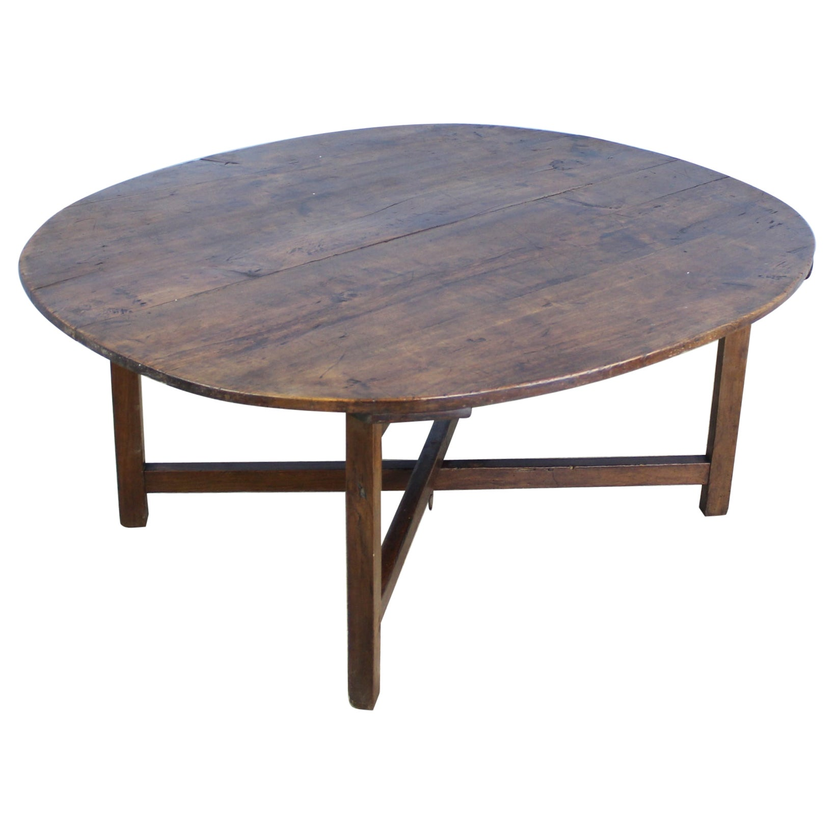 Criss Cross Coffee Table.Oval Cherry Coffee Table On Criss Cross Stretcher Base