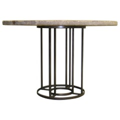 French Mid-Century Modern Iron Circular Table Base