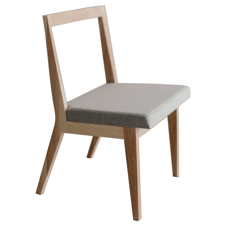 Hanoi ash wood and wool upholstery Chair