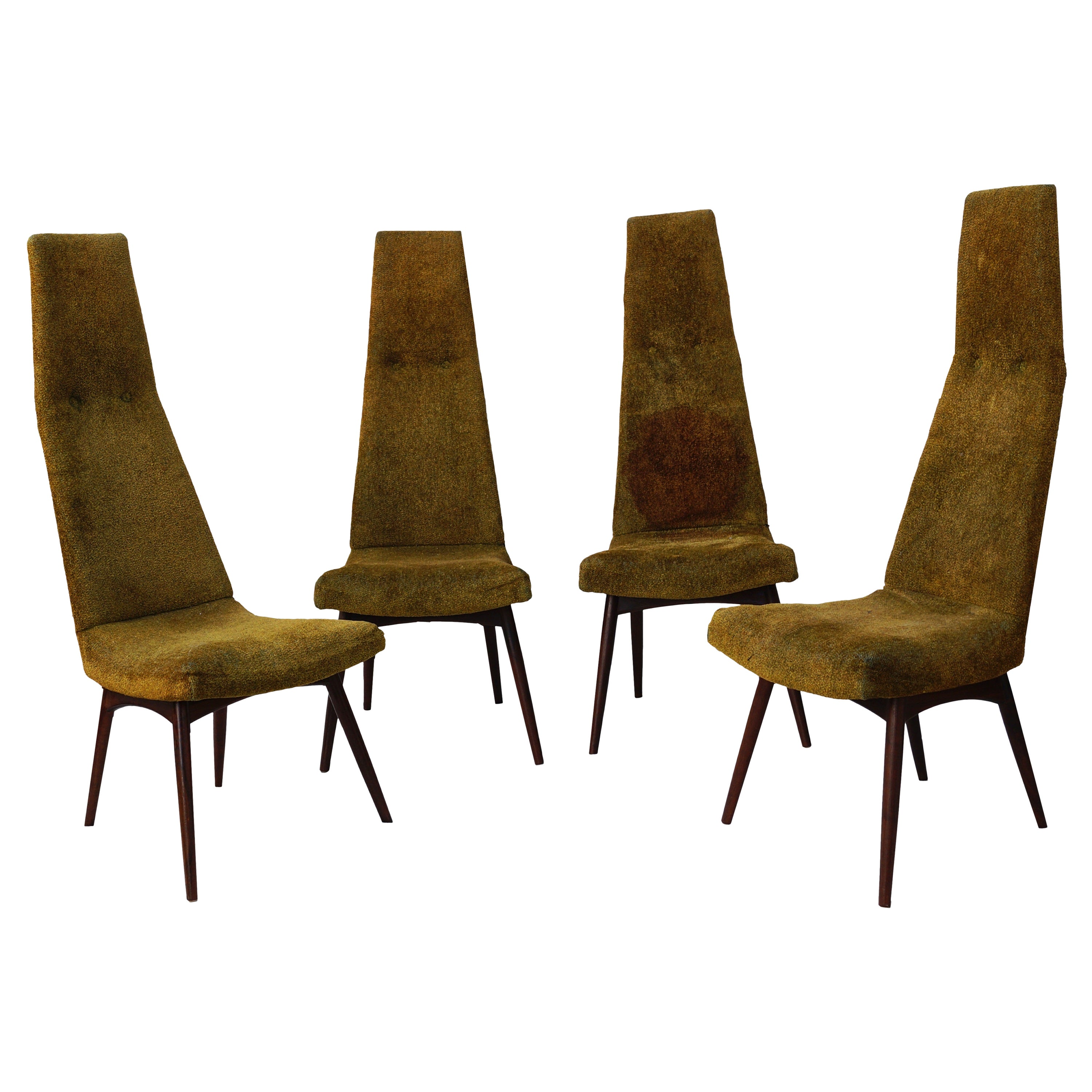 Set of Four Adrian Pearsall High Back Dining Chairs for Craft Associates