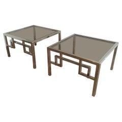 Pair of Design Chrome Side Tables, circa 1970