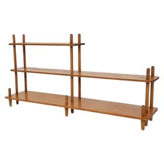 Wilhelm Lutjens style Birchwood Bookcase, Plant Stand or Wall Unit, Dutch, 1950s