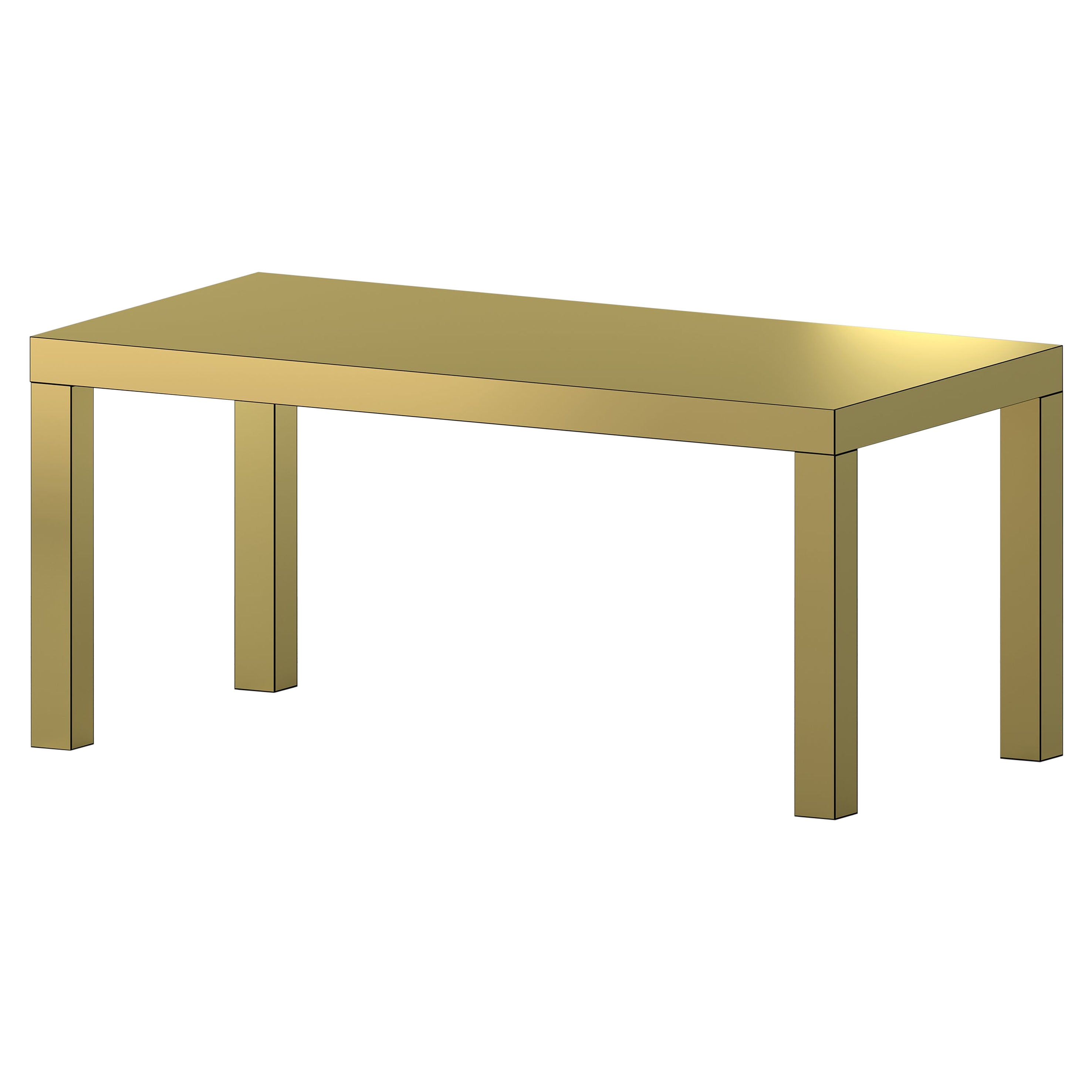 Contemporary Table/Desk Brushed Gold Hitan Aluminium by Chapel Petrassi