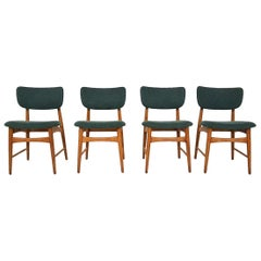 Set of 4 Oak Dining Room Chairs Attributed to Bovenkamp, The Netherlands, 1960s