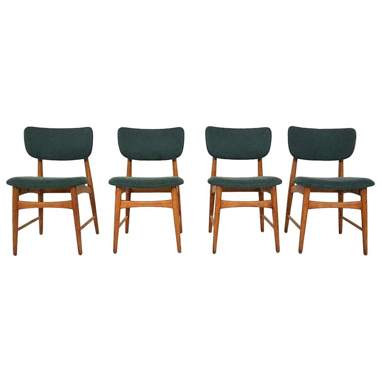 Peachy Set Of 4 Oak Dining Room Chairs Attributed To Bovenkamp The Netherlands 1960S Creativecarmelina Interior Chair Design Creativecarmelinacom