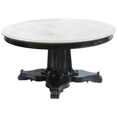 Large Anglo-Indian Ebonized Centre Table, Early 20th Century