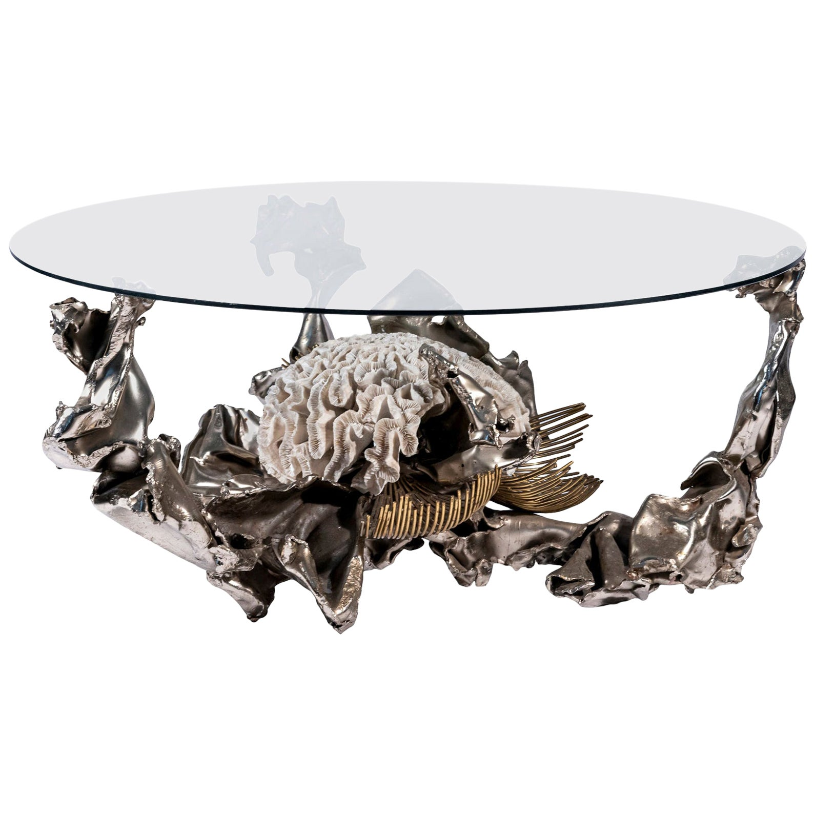 Jacques Duval Brasseur, Coffee Table, Signed, circa 1970, France