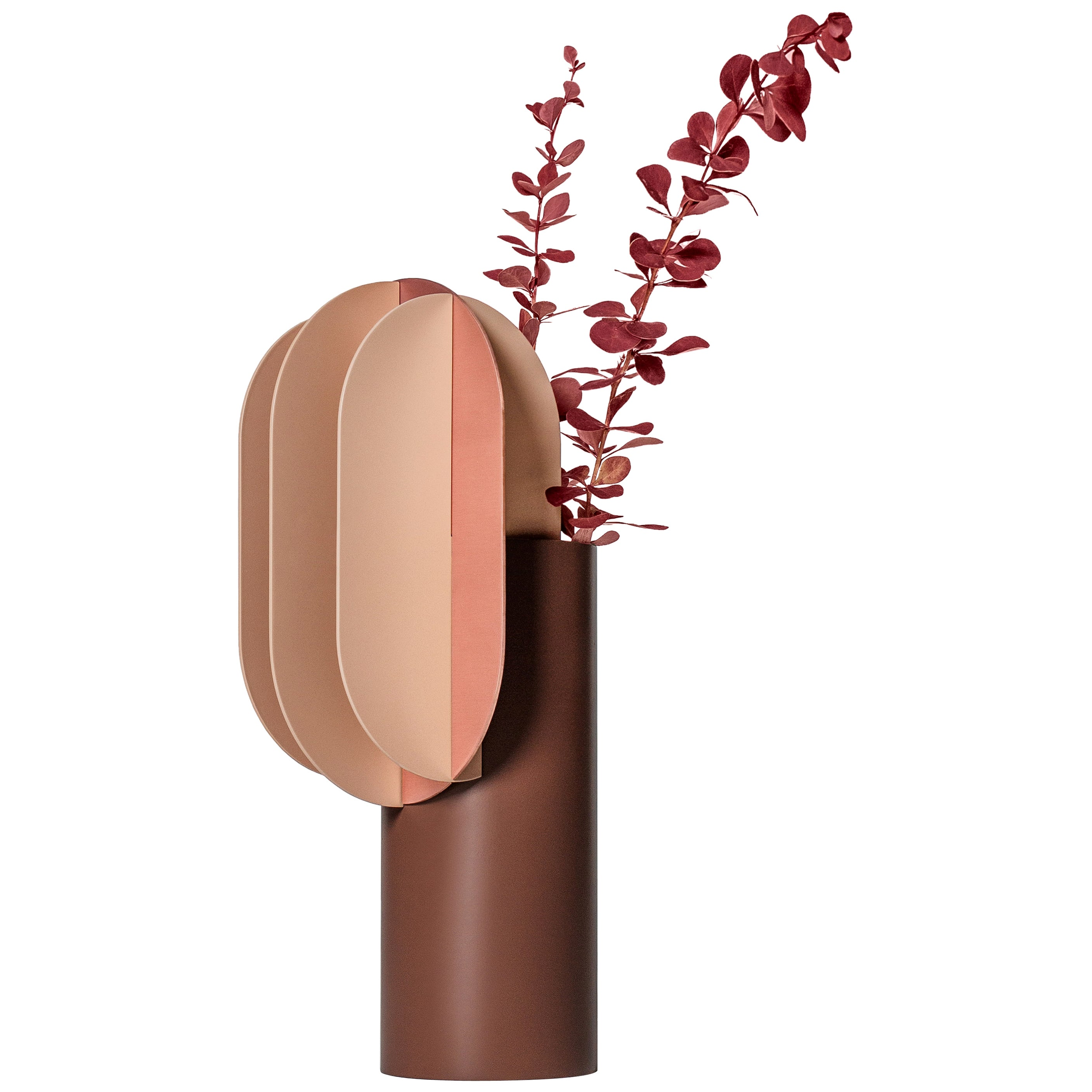 Modern Vase Gabo CS7 by Noom in Copper and Steel