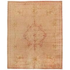 Antique Pale Pink Austrian Savonnerie Rug