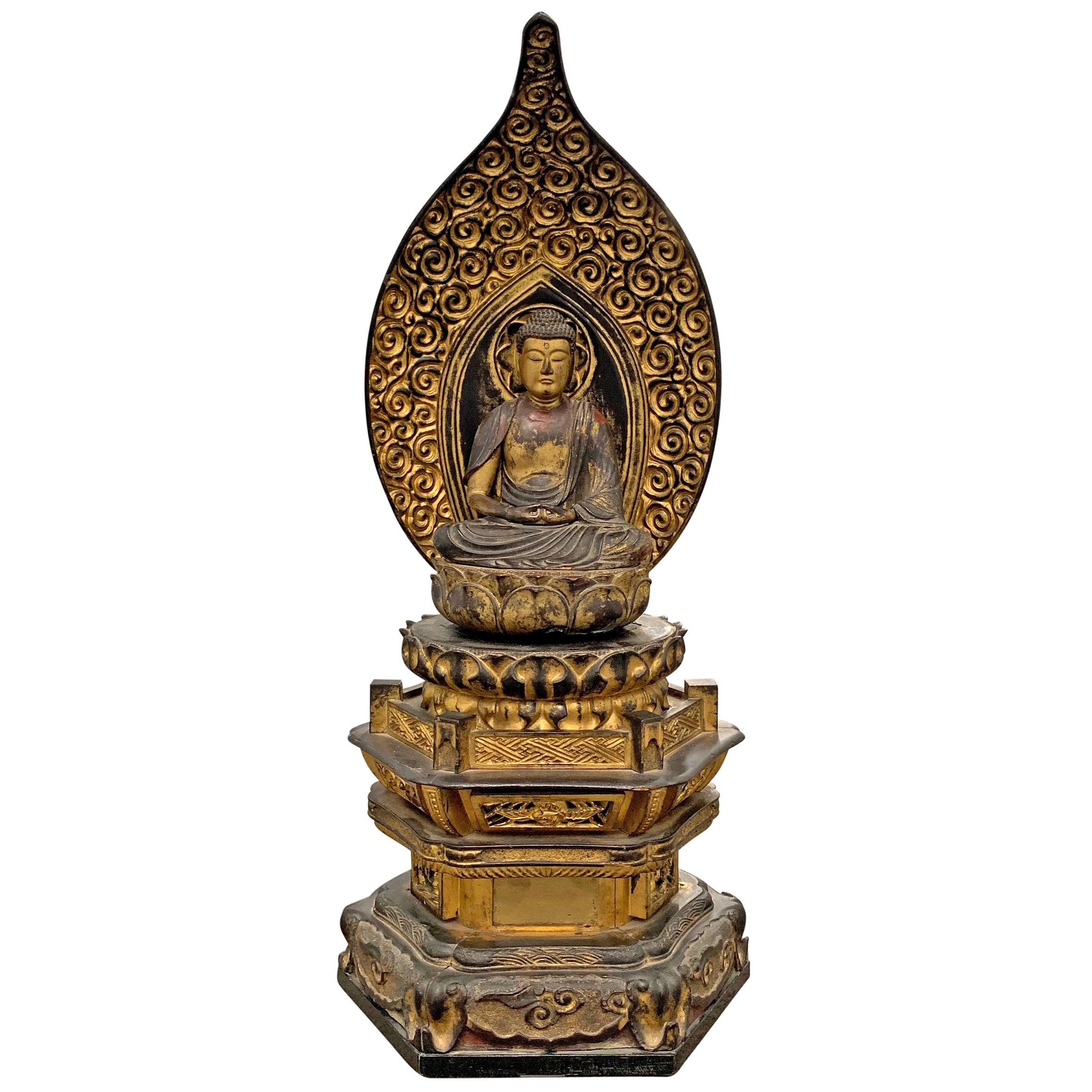 Edo Period Japanese Bodhisattva Shrine