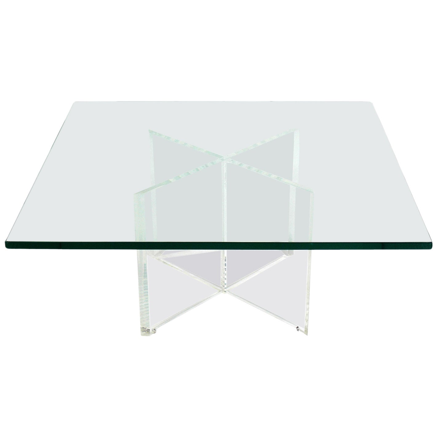 Lucite X-Base Coffee Table