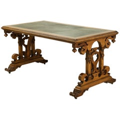 Early Victorian Library or Writing Table in the Manner of W. Blackie