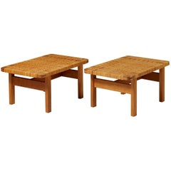 Pair of Occasional Tables/Benches Model 5273 Designed by Börge Mogensen