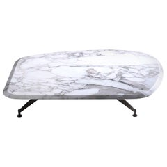 Butterfly Coffee Table Vers. 1 With White Marble Top