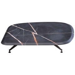 Butterfly Coffee Table Vers, 1 with Black Marble Top