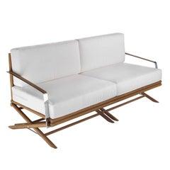 Maxim White 3-Seat Sofa by Braid Outdoor