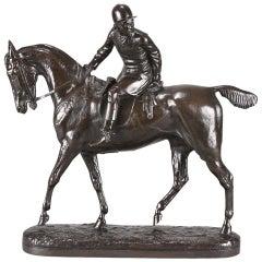 British Animalier Bronze Study 'The Huntsman' by John Willis-Good