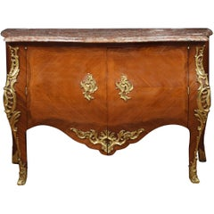 Late 18th Century French Gilt Bronze-Mounted Kingwood Commode