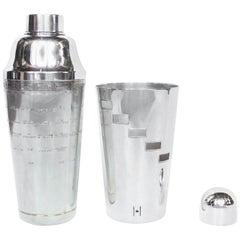 Art Deco Recipe Cocktail Shaker