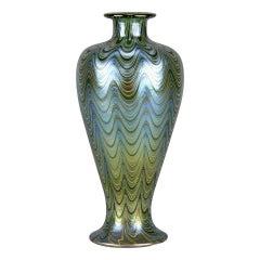 Art Nouveau Iridescent 'Lava Phanomen' Vase by Johann Loetz