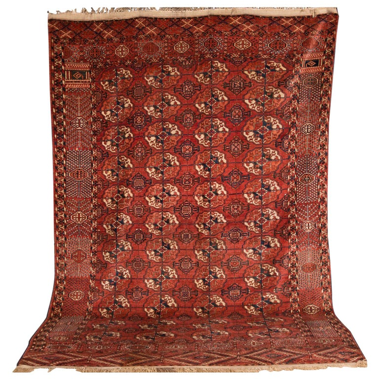 20th Century Antique Buchara Carpet Rug For Sale