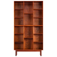 Two tear teak bookcase by Peter Hvidt and Orla Molgaard for Soborg Mobler, 1960s