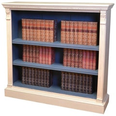 Stunning Victorian Quality Antique Painted Open Bookcase